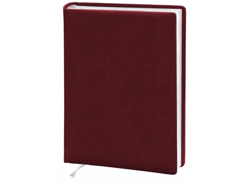 Діловий щоденник Поліграфіст А5 В231 шт. шкіра, бордовий клітинка