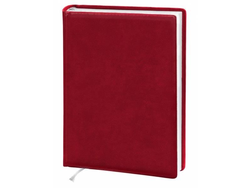 Діловий щоденник Поліграфіст А5 В231 шт. шкіра, червоний клітинка