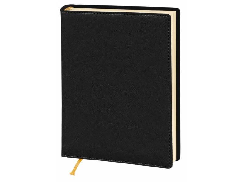 Діловий щоденник Поліграфіст А5 В241/1 шт.шкіра NEBRASKA, чорний (КРЕМОВИЙ) лінія