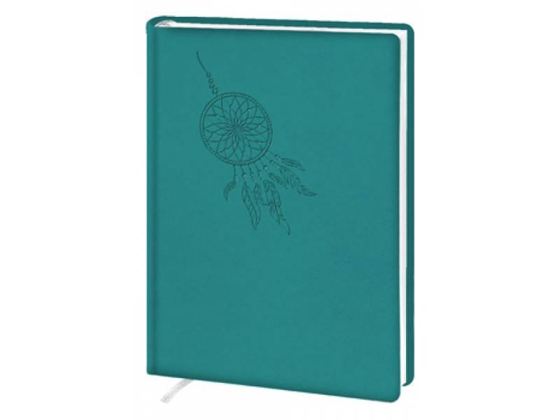 Діловий щоденник Поліграфіст А5 В232 шт.шкіра, бірюзовий лінія