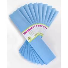 Кольоровий папір гофрований 1Вересня (55%) 26,4г/м2 блакитний