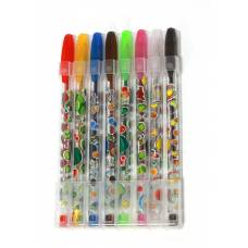 Ручки у наборі гелеві LK 2425-14 з глітером 8шт.