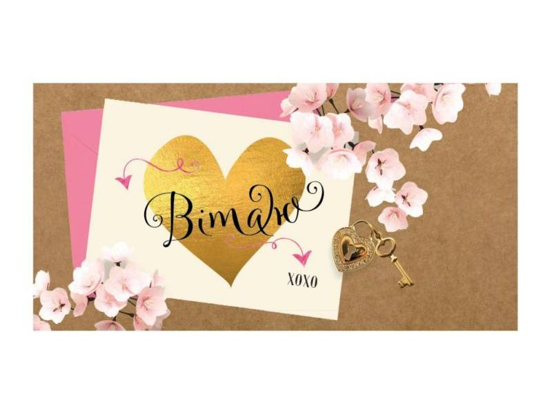 Аксесуари подарункові конверт для грошей ЛВ-01-383 Вітаю! (за 10шт) жіночий
