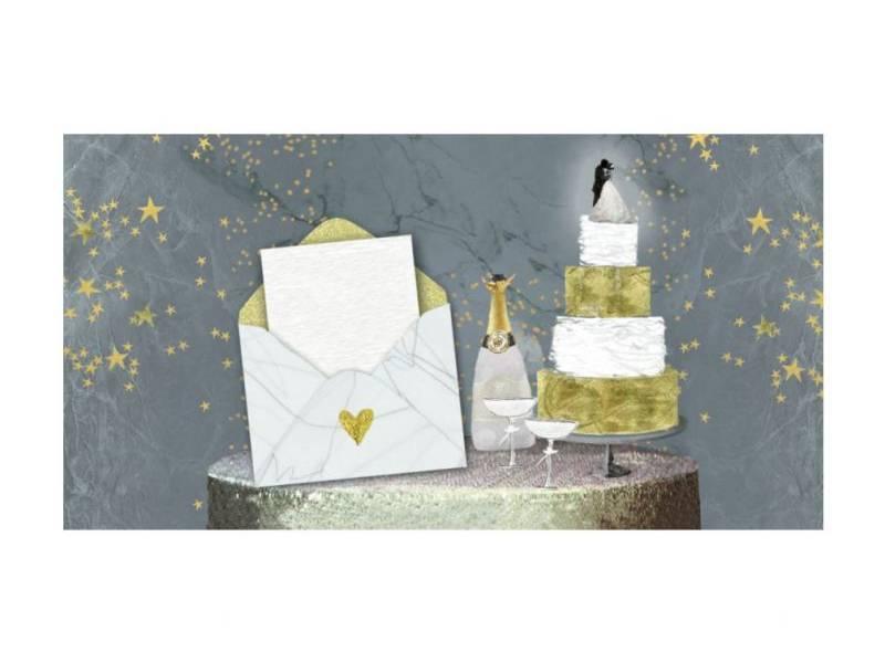 Аксесуари подарункові конверт для грошей ЛВ-01-294 З Днем Весілля! (за 10шт)