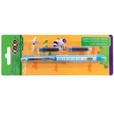 Ручка чорнильна Zibi з закритим пером + 2 картриджа на блістері, блакитна