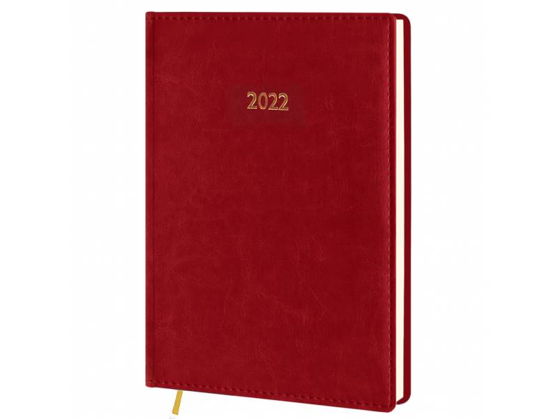 Діловий щоденник датований Поліграфіст В240/1 (21) NEBRASKA шт.шкіра, червоний (КРЕМОВИЙ)