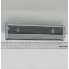 Футляр для ручки VL пластиковий циліндр, срібло
