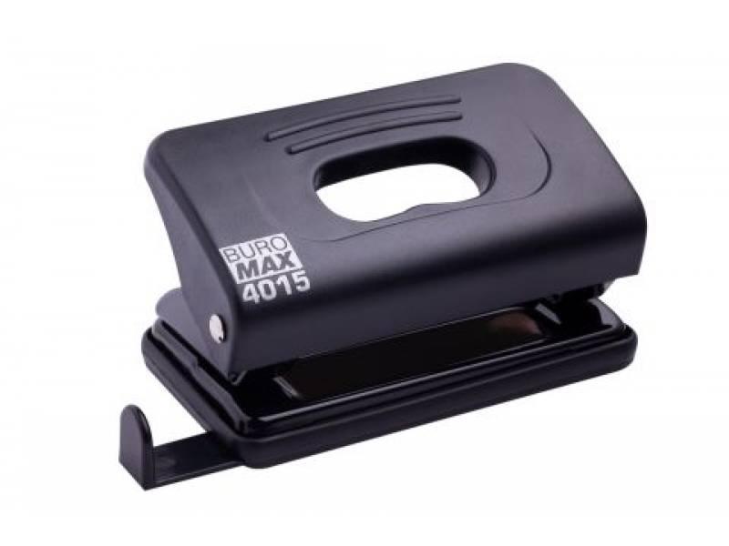 Діркопробивач Buromax (4015) пластиковий, 10арк. чорний