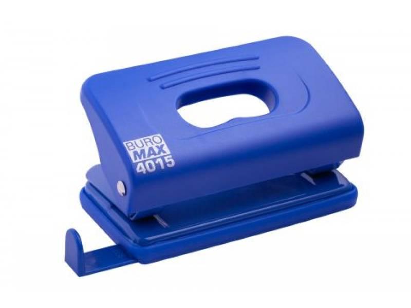 Діркопробивач Buromax (4015) пластиковий, 10арк. синій