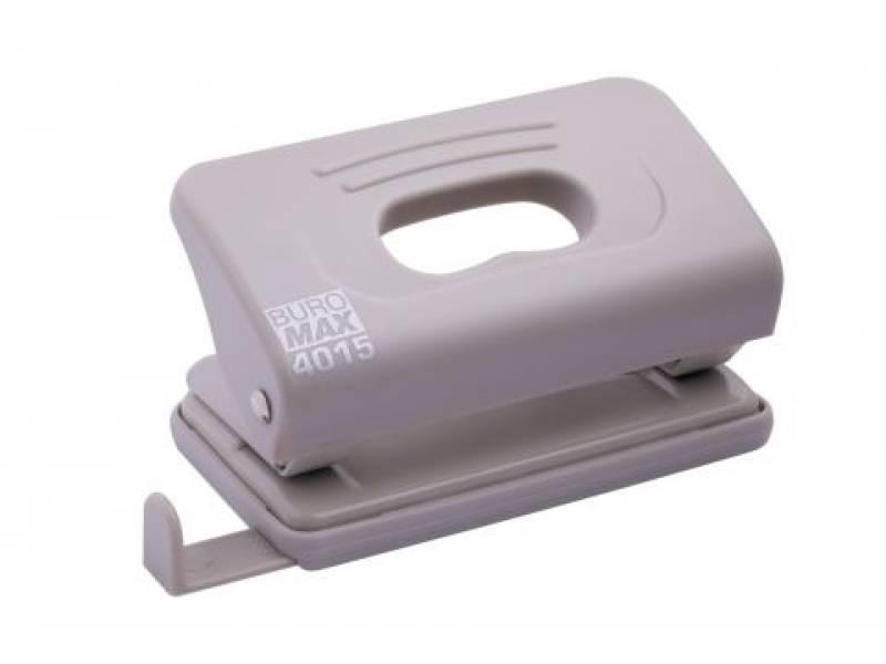 Діркопробивач Buromax (4015) пластиковий, 10арк. сірий