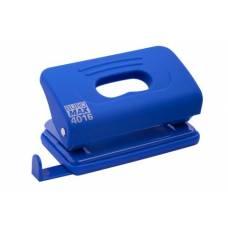 Діркопробивач Buromax (4016) пластиковий RUBBER TOUCH, 10арк. синій