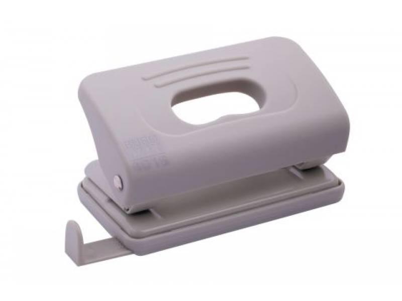 Діркопробивач Buromax (4016) пластиковий RUBBER TOUCH, 10арк. сірий
