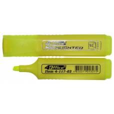Маркер текстовий 4Office 4-117 1-5мм. жовтий