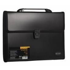 Портфель пластиковий Scholz A4, 3 відділення, чорний