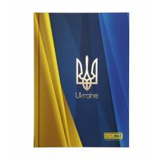 Бюромакс UKRAINE А5, 96л тверда глянцева ламінація, синій електрик