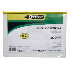 Папка пластикова на блискавці 4Office A4