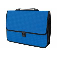 Портфель пластиковий Economix ВИШИВАНКА на застібці, синій