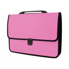 Портфель пластиковий Economix ВИШИВАНКА на застібці, рожевий