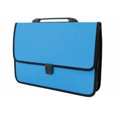 Портфель пластиковий Economix ВИШИВАНКА на застібці, блакитний