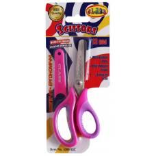 Ножиці дитячі Class 133мм з прогумованими ручками в чохлі, рожеві