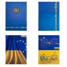 Книга комірна Бюромакс 96л UKRAINE твердий лак КЛІТИНКА