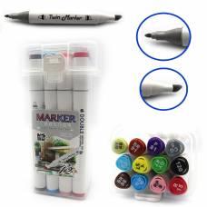 Маркер-скетч .набір VL M&S 12кол в пластик. упаковці