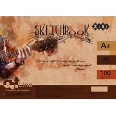 Альбом для малювання скетчбук Zibi A4 на пружині 40л 100г/м